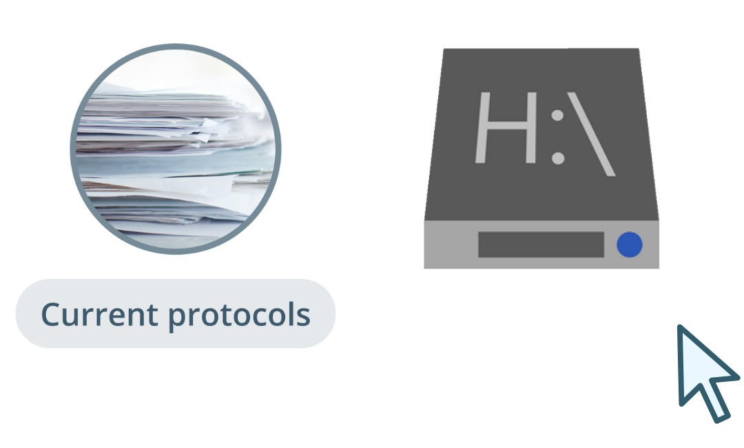 2. Most current protocols are presented each with their own format and can only be accessed from certain locations-1