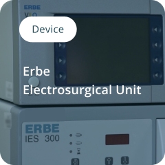 Erbe Electrosurgical Unit composited visual for device training