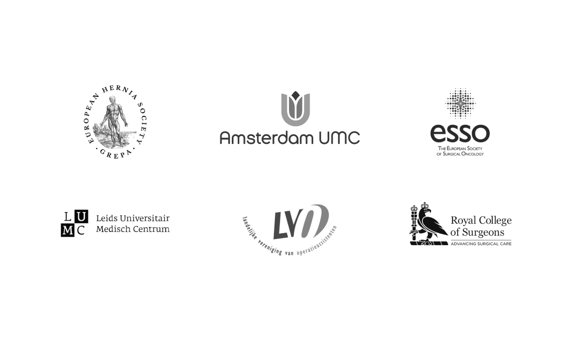 Logo collection of leading clinics societies and hospitals Incision partners with