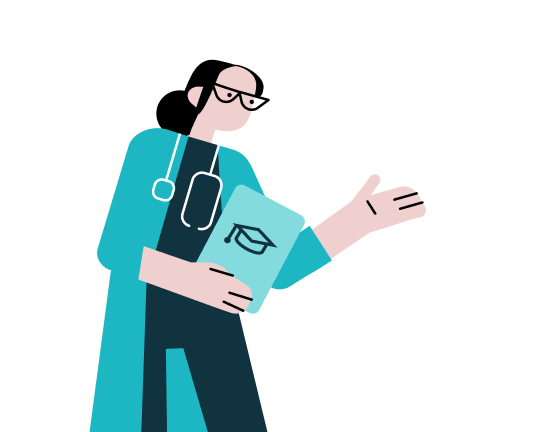 Female surgeon illustration